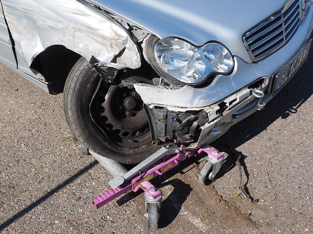 Unfall mit wagenheber